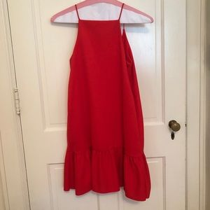 Zara red knee-length dress